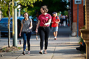 First Friday activities in downtown Kokomo, Indiana.