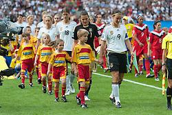 26.06.2011, Olympiastadion Berlin, Berlin, GER, FIFA Women's Worldcup 2011, Gruppe A,  Deutschland (GER) vs. Canada (CAN), im Bild Birgit Prinz (GER #09, Frankfurt) Nadine Angerer (Torwart GWE #01, Frankfurt)   // during the FIFA Women's Worldcup 2011, Pool A, Germany vs Canada on 2011/06/26, Olympiastadion, Berlin, Germany.   EXPA Pictures © 2011, PhotoCredit: EXPA/ nph/  Kokenge       ****** out of GER / SWE / CRO  / BEL ******