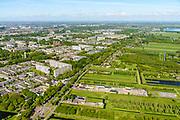 Nederland, Utrecht, Utrecht, 13-05-2019; Noordelijk Randweg Utrecht, N230, gezien richting Maarsseveensche Plassen, links de wijk Overvecht.<br /> Northern ringroad Utrecht.<br />  <br /> luchtfoto (toeslag op standard tarieven);<br /> aerial photo (additional fee required);<br /> copyright foto/photo Siebe Swart