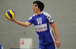 12-02-2011 VOLLEYBAL: AB GRONINGEN/LYCURGUS - DRAISMA DYNAMO: GRONINGEN<br /> In een bomvol Alfa-college Sportcentrum werd Dynamo met 3-2 (25-27, 23-25, 25-19, 25-23 en 16-14) verslagen door Lycurgus / Tommy Pestolesi<br /> ©2011-WWW.FOTOHOOGENDOORN.NL
