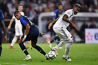 FUSSBALL UEFA Nations League in Muenchen Deutschland - Frankreich       06.09.2018 Kylian Mbappe (li, Frankreich) gegen Jerome Boateng (re, Deutschland) --- DFB regulations prohibit any use of photographs as image sequences and/or quasi-video. ---