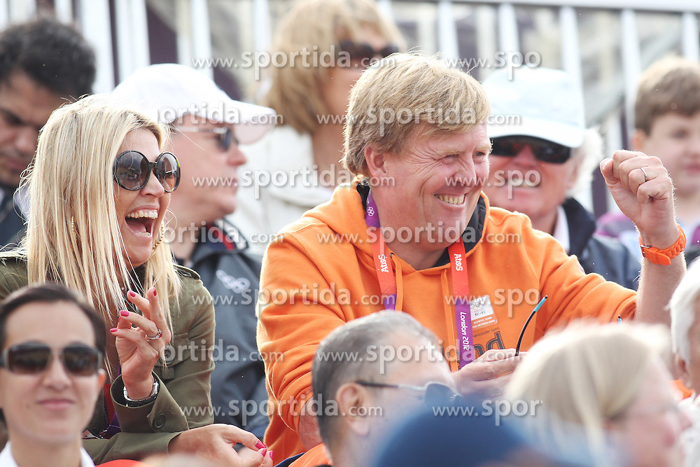Olympics - London 2012 Olympic Games - Greenwich Park - 6/8/12.Equestrian - Team Jumping - .Willem Alexander of the Netherlands and wife Maxima.© pixathlon  Prinz, Fuerst, Koenigsfamile Prinzen