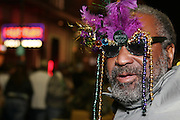 February 27th 2006. New Orleans, Louisiana. United States..A man celebrates Mardi Gras in the French Quarter.