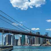 Brooklyn Bridge, view from Main Street Park, Brooklyn NYC. Photo by Alabastro Photography.