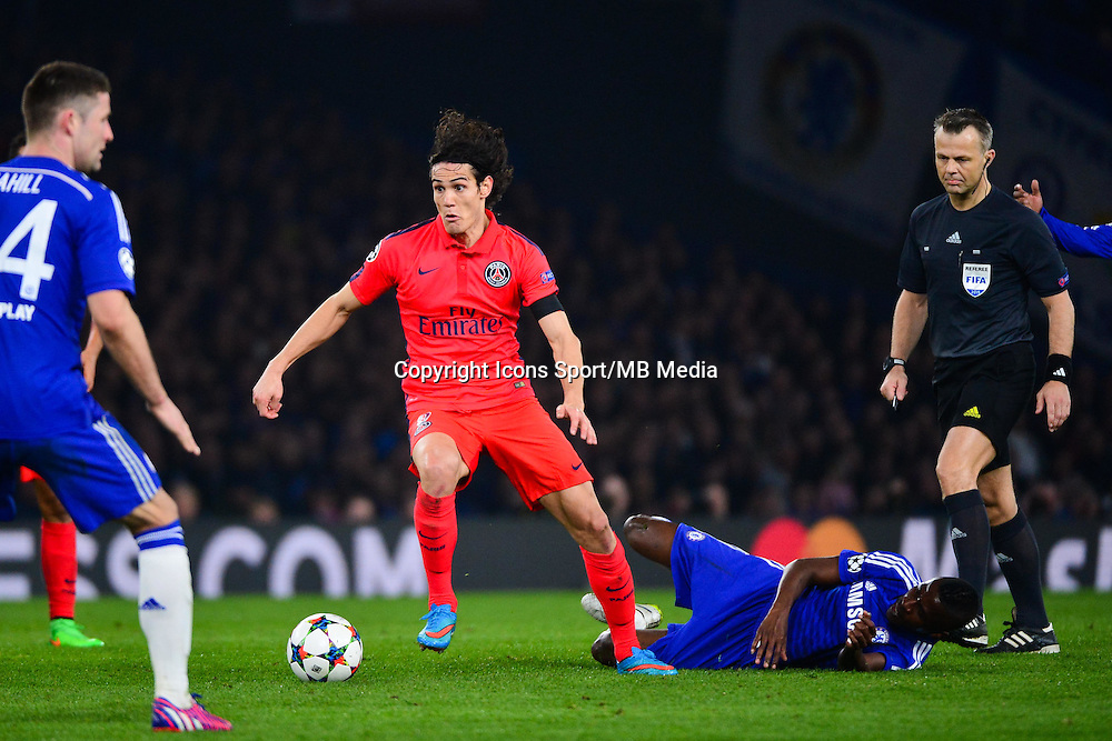 Edinson CAVANI - 11.03.2015 - Chelsea / Paris Saint Germain - 1/8Finale retour Champions League<br /> Photo : Dave Winter / Icon Sport
