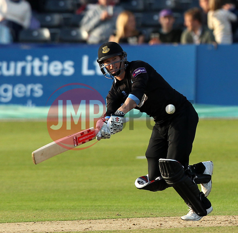 Sussex's George Bailey flicks a shot away - Photo mandatory by-line: Robbie Stephenson/JMP - Mobile: 07966 386802 - 26/06/2015 - SPORT - Cricket - Bristol - The County Ground - Gloucestershire v Sussex - Natwest T20 Blast
