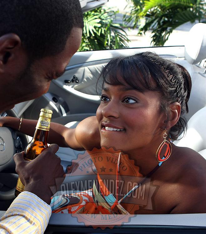 Advertising photos for a Castel Beer commercial filmed in Central Florida. (Photo Alex Menendez)