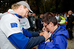 Luka Spik signing autographs at Special Olympics Law Enforcement Torch Run for Special Olympics European Summer Games 2010, Warsaw, Poland in September 7, in Ljubljana, Slovenia. (Photo by Matic Klansek Velej / Sportida)