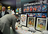 Feb. 27, 2013 - Garden City, New York, U.S. - During the 10th Annual Cradle of Aviation Museum Air & Space Gala, celebrating the 40th Anniversary of Apollo 17, a Silent Auction of donated items such as space, sports, and Long Island memorabilia and Baskets of Cheer, is held to raise funds for the museum.