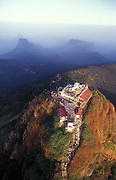 Adams Peak, known locally as Sri Pada, is the mountain sacred to Buddhist's and site of an annual pilgrimage. The Peak has a rock which they say has an imprint of the of the Buddha's foot.