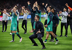 Tottenham Hotspur manager Mauricio Pochettino celebrates winning the UEFA Champions League Semi Final, second leg match at Johan Cruijff ArenA, Amsterdam.