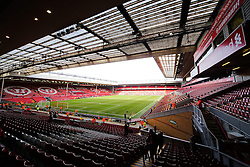 A general view of Anfield Stadium ahead of the FA Cup Quarter Final tie between Liverpool and Blackburn Rovers - Photo mandatory by-line: Matt McNulty/JMP - Mobile: 07966 386802 - 08/03/2015 - SPORT - Football - Liverpool - Anfield Stadium - Liverpool v Blackburn Rovers - FA Cup