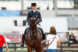 Devroe Jeroen, (BEL), Eres DL<br /> Tryon - FEI World Equestrian Games™ 2018<br /> Backgroundbilder vom Abreiteplatz<br /> Grand Prix de Dressage Teamwertung und Einzelqualifikation<br /> 13. September 2018<br /> © www.sportfotos-lafrentz.de/Sharon Vandeput