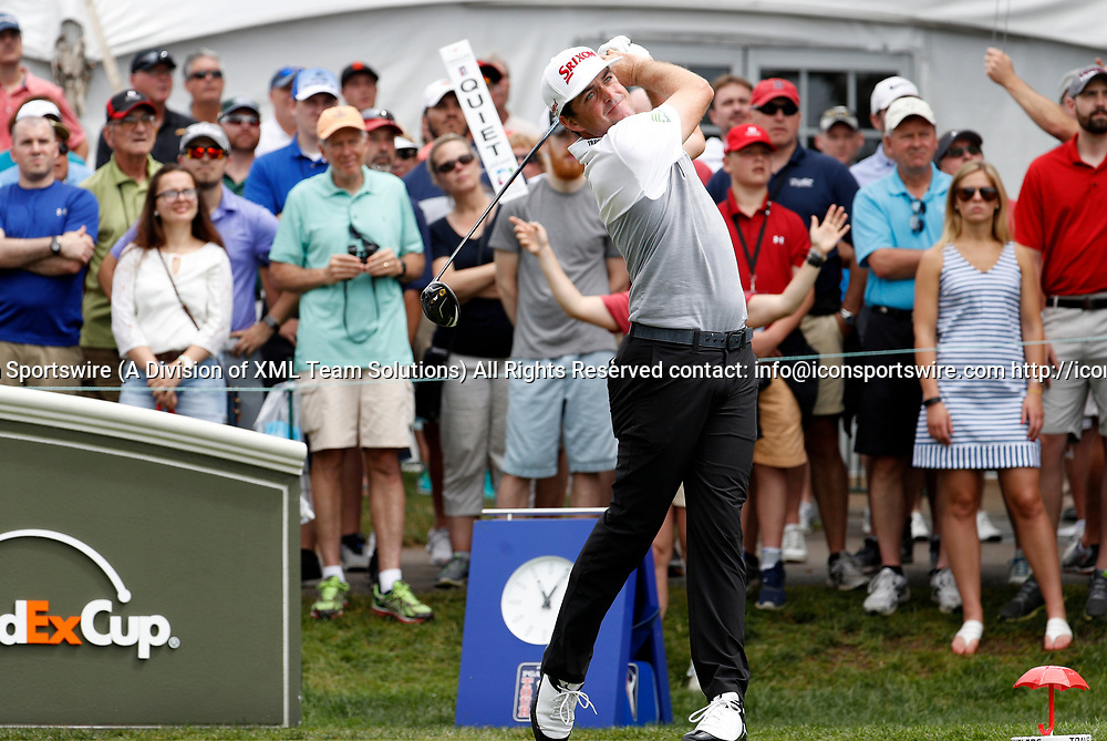 CROMWELL, CT - JUNE 24: Keegan Bradley of the United States drives from the 1st tee during the third round of the Travelers Championship on June 24, 2017, at TPC River Highlands in Cromwell, Connecticut. (Photo by Fred Kfoury III/Icon Sportswire)