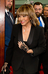 Tina Turner arrives at the opening night of TINA, a new musical based on the life of the legendary artist at the Aldwych Theatre, London. Picture dated: Tuesday April 17, 2018. Photo credit should read: Isabel Infantes / EMPICS Entertainment.