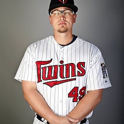 Feb 19, 2013; Fort Myers, FL, USA; Minnesota Twins starting pitcher Vance Worley (49) poses for a portrait during photo day at Hammond Stadium. Mandatory Credit: Derick E. Hingle-USA TODAY Sports