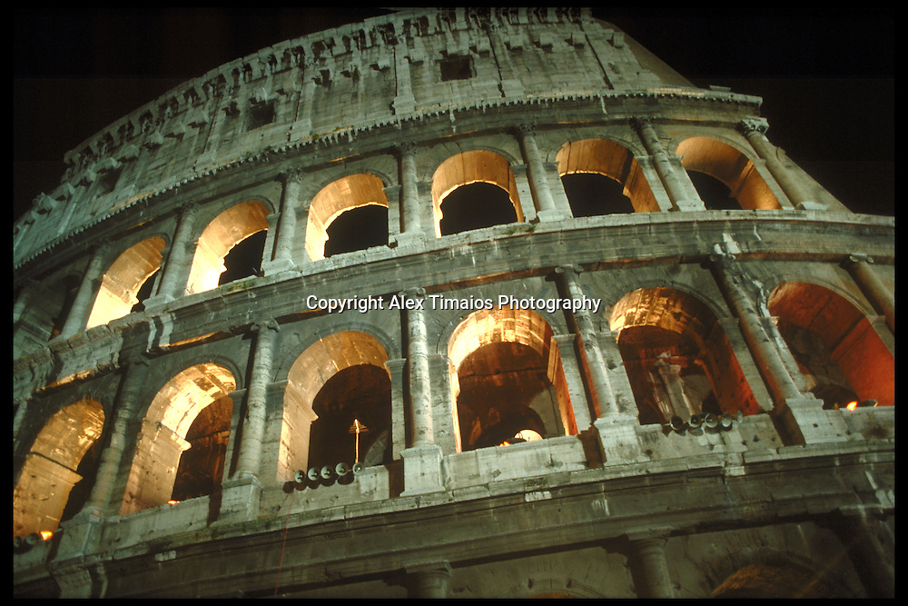 The colloseum in Rom, Italy. One of the most famous buildings of the world