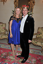 The HON.DANIEL & MRS BRENNAN at Tatler's Jubilee Party in association with Thomas Pink held at The Ritz, Piccadilly, London on 2nd May 2012.