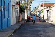 Street in Jaruco, Mayabeque, Cuba.