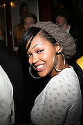 Meagan Goode at The Black House during the 2008 Sundance Film Festival. ..HISTORY..The Blackhouse Foundation was created in 2007 by a group of dedicated individuals interested in black cinema - preserving and furthering its legacy. Black House works to provide a platform for African American filmmakers to use their voice to tell stories by and about African Americans in the world of independent and feature films...Black filmmakers made history in 2007, the year The Blackhouse Foundation launched the Blackhouse® venue at the 2007 Sundance Film Festival.  Blackhouse® played host to over 150 daily visitors with more than 1,200 people visiting the venue throughout the festival.  Blackhouse® was open to the public throughout the day, hosted workshops, a legendary nightly cocktail hour, a marquee party for Our Stories Films, LLC and launched a landmark fellows program for young, aspiring filmmakers.  ..MISSION..The mission of the Blackhouse Foundation is to expand opportunities for Black filmmakers by providing a physical venue for our constituents at the world's most prominent film festivals and creating a nucleus for continuing support, community, education and knowledge.  .
