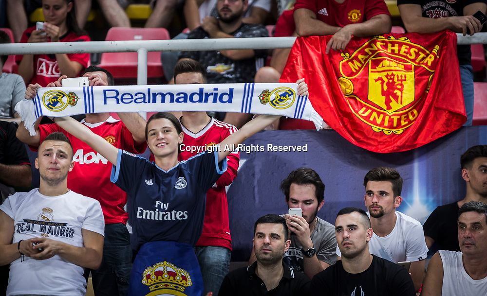 August 8th 2017, Philip II National Arena, Skopje, Macedonia; 2017 UEFA Super Cup; Real Madrid versus Manchester United; fan of Real Madrid ahead the SuperCup match