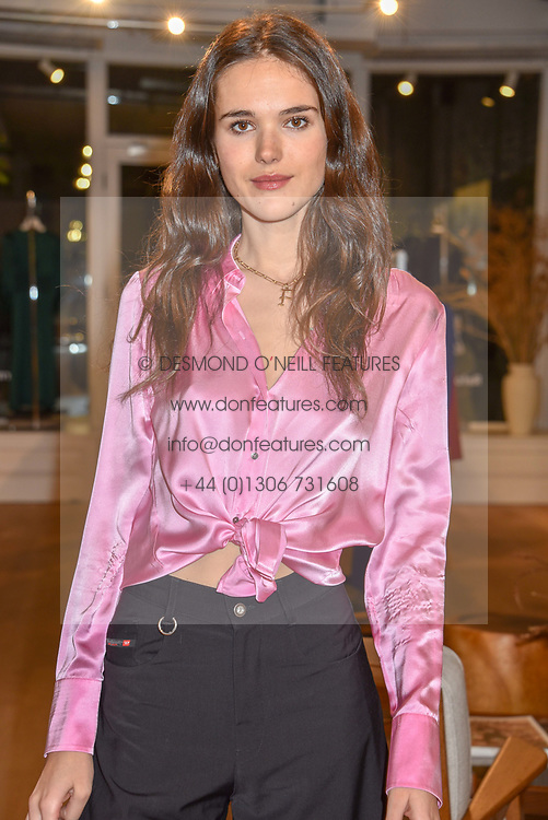 Frankie Herbert at a dinner to celebrate the collaboration of jewellers Tada & Toy with Lady Amelia Windsor held at Reformation, 186 Westbourne Grove, London.<br /> <br /> Photo by Dominic O'Neill/Desmond O'Neill Features Ltd.  +44(0)1306 731608  www.donfeatures.com