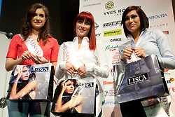 Anja Antic, Ursa Klavs and Anja Antic after event Miss Sports of Slovenia 2012, on April 21, 2012, in Festivalna dvorana, Ljubljana, Slovenia. (Photo by Urban Urbanc / Sportida.com)