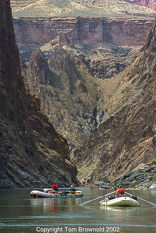 Private trip lining up for the entry into Horn Creek rapid which is closer then you would think.