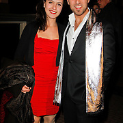NLD/Amsterdam/20120217 - Premiere Saturday Night Fever, Christop Haddad en zus Amber