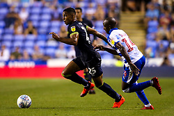 Max Lowe of Derby County takes on Sone Aluko of Reading - Mandatory by-line: Robbie Stephenson/JMP - 03/08/2018 - FOOTBALL - Madejski Stadium - Reading, England - Reading v Derby County - Sky Bet Championship