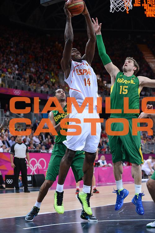 DESCRIZIONE : London Londra Olympic Games Olimpiadi 2012 Men Preliminary Round Spagna Brasile Spain Brazil<br /> GIOCATORE : Serge Ibaka<br /> CATEGORIA :<br /> SQUADRA : Spagna Spain<br /> EVENTO : Olympic Games Olimpiadi 2012<br /> GARA : Spagna Brasile Spain Brazil<br /> DATA : 06/08/2012<br /> SPORT : Pallacanestro <br /> AUTORE : Agenzia Ciamillo-Castoria/M.Marchi<br /> Galleria : London Londra Olympic Games Olimpiadi 2012 <br /> Fotonotizia : London Londra Olympic Games Olimpiadi 2012 Men Preliminary Round Spagna Brasile Spain Brazil<br /> Predefinita :