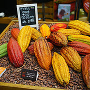 Hundreds of stalls at The Chocolate Show, at the Olympia exhibit center in London on October 13, 2017 is the ultimate celebration of all things cocoa-related.