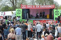 Green Party MP Caroline Lucas is joined on stage by The Green Party co-leaders Jonathan Bartley and Siân Berry. Caroline Lucas then addressed the gathered crowds. <br /> <br /> Richard Hancox | EEm 22042019