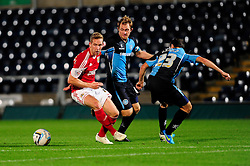Bristol City's Scott Wagstaff cuts inside of Wycombe Wanderers' Nick Arnold - Photo mandatory by-line: Joe Dent/JMP - Tel: Mobile: 07966 386802 08/10/2013 - SPORT - FOOTBALL - London Road Stadium - Peterborough - Peterborough United V Brentford - Johnstone Paint Trophy
