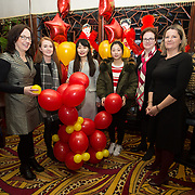 13.02.2018.<br /> University of Limerick International Office Chinese New Year Celebrations, Chungs Chinese Cuisne Castletroy. <br />  Pictured at the event were, Jacinta Hogan, UL, Aine Proudfoot, UL, Wen Tie, Student, Yili Wu, Student, Josephine Page, UL and Katherine Martin, UL. Picture: Alan Place