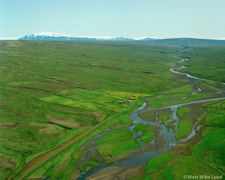 Dalgeirsstaðir séð til suðurs, Húnaþing vestra áður Fremri-Torfustaðahreppur / Dalgeirsstadir viewing aouth, Hunathing vestra former Fremri-Torfustadahreppur.