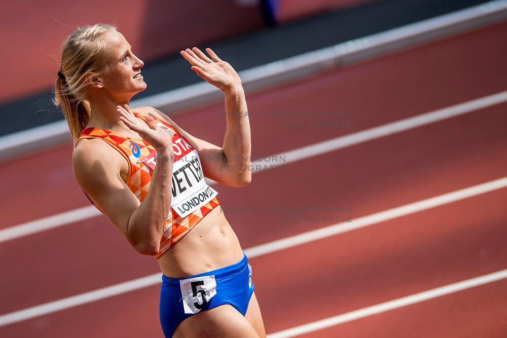 05-08-2017 IAAF World Championships Athletics day 2, London<br /> Anouk Vetter NED (zevenkamp) in actie op de 100 meter horden