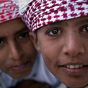Oman, Ra's al-Hadd. February 07/2008...Young boys from the village of Ra's al-Hadd.