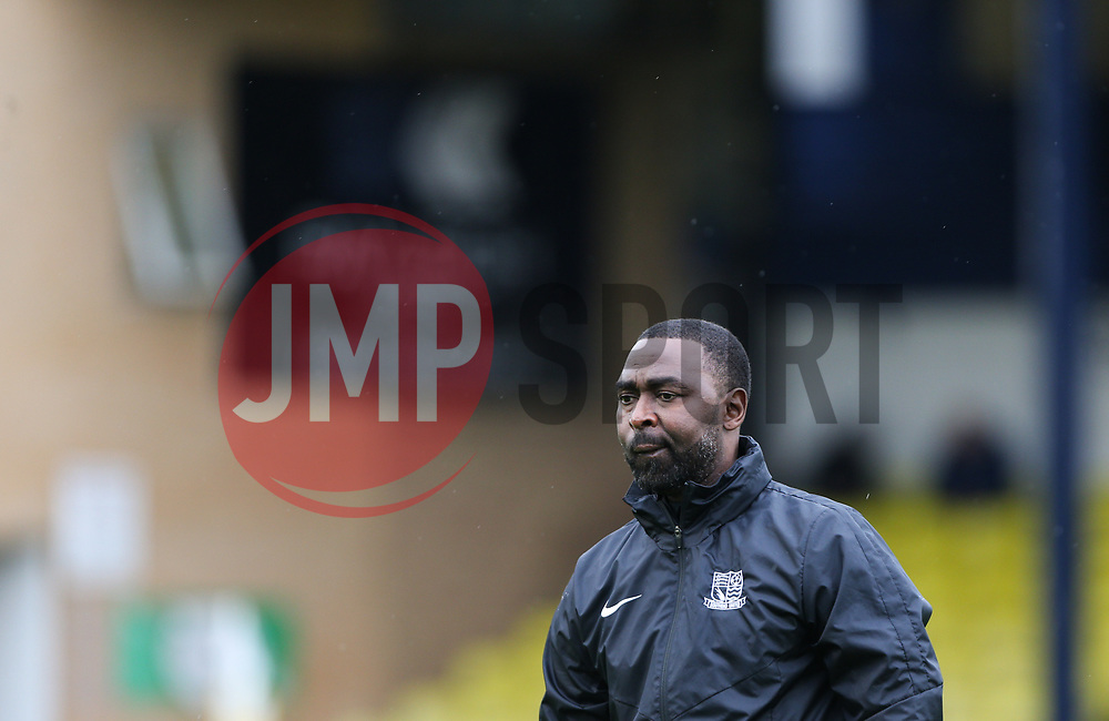 Southend United coach Andrew Cole - Mandatory by-line: Arron Gent/JMP - 27/10/2019 - FOOTBALL - Roots Hall - Southend-on-Sea, England - Southend United v Ipswich Town - Sky Bet League One