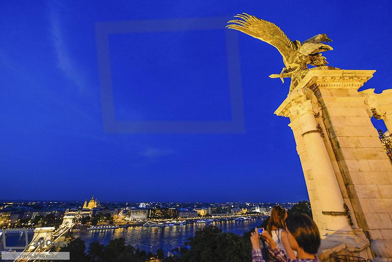 Budapest, chain bridge, Hungary