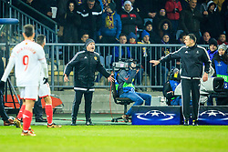 Zlatko Zahovic, angry during Group E football match between NK Maribor and FC Sevilla in 6th Round of UEFA Champions League, on December 6, 2017 in Ljudski vrt, Maribor, Slovenia. Photo by Ziga Zupan / Sportida