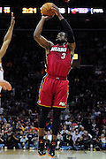 March 29, 2010; Cleveland, OH, USA; Miami Heat shooting guard Dwyane Wade (3) shoots a jump shot during the third quarter against the Cleveland Cavaliers at Quicken Loans Arena. The Cavaliers beat the Heat 102-90. Mandatory Credit: Jason Miller-US PRESSWIRE