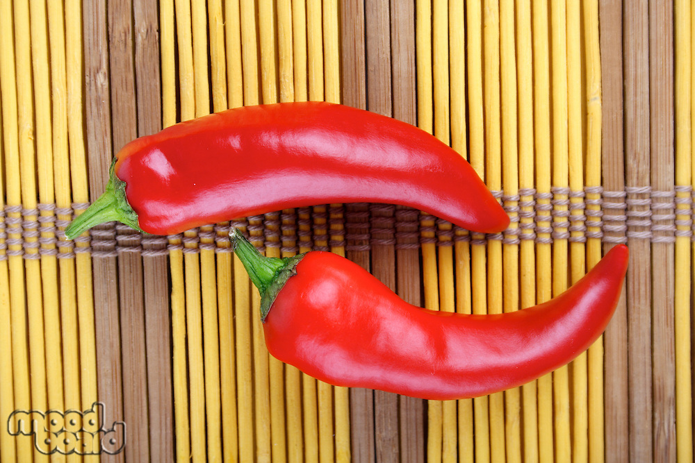 Studio shot of red chilli