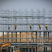 Cantiere e lavori nel sito dove sorgerà Expo Milano 2015.<br /> Fotografia del 20 settembre 2014