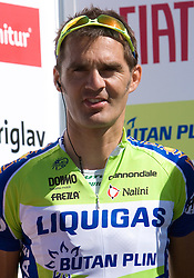 Gorazd Stangelj  (SLO) of Liquigas at 1st stage of Tour de Slovenie 2009 from Koper (SLO) to Villach (AUT),  229 km, on June 18 2009, in Koper, Slovenia. (Photo by Vid Ponikvar / Sportida)