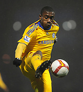 Salomon Kalou controls the ball during the Barclays Premier League match between Portsmouth and Chelsea at Fratton Park on March 3, 2009 in Portsmouth, England.
