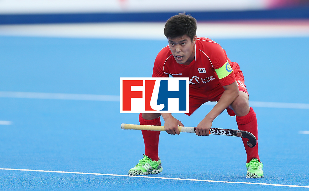 LONDON, ENGLAND - JUNE 16: Hyosik You of Korea during the FIH Mens Hero Hockey Champions Trophy match between Korea and Germany at Queen Elizabeth Olympic Park on June 16, 2016 in London, England.  (Photo by Alex Morton/Getty Images)