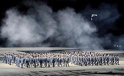 07-02-2014 ALGEMEEN: OPENINGSCEREMONIE OLYMPIC GAMES: SOTSJI<br /> De openingsceremonie in het Fishtstadion van de Olympische Winterspelen in Sotsji staat vol spektakel, dans en 22,5 ton vuurwerk <br /> ©2014-FotoHoogendoorn.nl