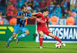 TRABZON, TURKEY - Thursday, August 26, 2010: Liverpool's Daniel Pacheco in action against Trabzonspor during the UEFA Europa League Play-Off 2nd Leg match at the Huseyin Avni Aker Stadium. (Pic by: David Rawcliffe/Propaganda)