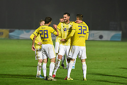 Players of Maribor during football match between NK Aluminij and NK Maribor in 18th Round of Prva liga Telekom Slovenije 2019/20, on November 24, 2019 in Sportni park Aluminij, Kidricevo Slovenia. Photo by Milos Vujinovic / Sportida
